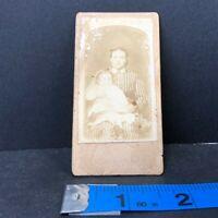 Vintage Cabinet Card Woman Child
