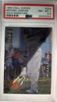 1994 COLL CHOICE Michael Jordan #204 GOLD SIGNATURE Platinum Foil! Rare PSA 8.5