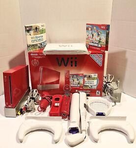 Nintendo Wii Red 25th Anniversary Console Limited Edition Bundle Super Mario Bro