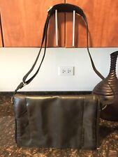 Ralph Lauren Men's Black leather messenger bag
