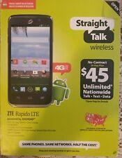 ZTE Rapido 8GB 4G LTE Prepaid Phone (Straight Talk) - Black - Z932L - Read