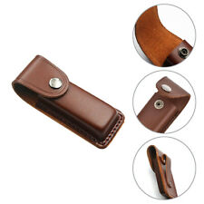 Folding Knife Multi-Tool Protect Case Pouch 5inch Cowhide Leather Sheath Pocket