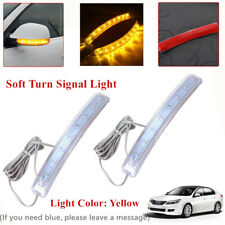 2pc Yellow Car Auto Side Mirror Amber Indicator Soft Turn Signal Light For DC12V