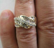 14K Gold Diamond Wedding Band Diamond=1.10 Carat F-Si1 Size 6.50 Value=$4,500