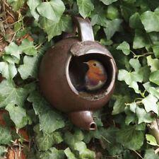 Robin Teapot Nester Garden Bird Nest Box