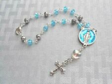 Our Lady of Grace Blue Auto/Car Rosary