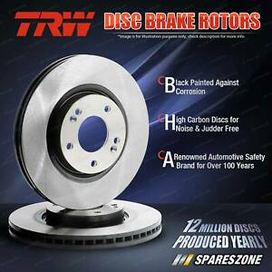 2x Front TRW Disc Brake Rotors for Volvo 240 244 245 262 264 265 1974 - 1993