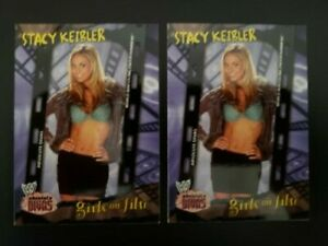 2002 Fleer WWE Absolute Divas Girls on Film Stacy Keibler #84 Lot of 2