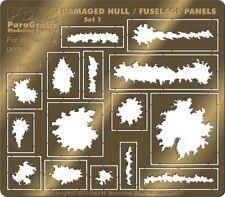 Battlestar Galactica - Damaged Hull & Fuselage Panels