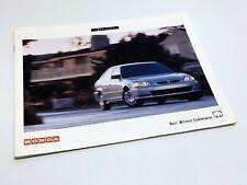 1997 Honda Civic Coupe Hatchback Sedan Brochure