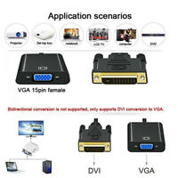 1080p DVI-D 24+1 Pin Male to VGA 15Pin Female Active Cable Adapter Converter ME