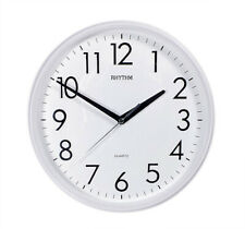 Rhythm Beautiful Wall Clock with Quartz Movement Analogue White 26cm 20839