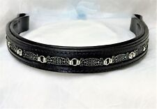 00004000 16 inch black padded leather browband .Free shipping in the Usa!