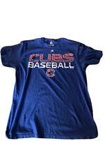 Chicago Cubs Majestic Authentic Collection T-Shirt Mens Size XL- BLUE-