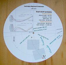 Dual 1019 design personnalisé phono cartouche stylet alignement rapporteur