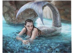 Hidden Depths Canvas Plaque By Anne Stokes. Size 25 x 19 CM.