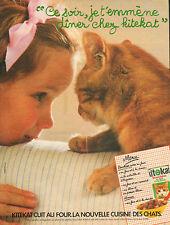 Publicité 1984  KITEKAT bouchées au foie et à la dinde pour chats