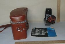 Bell & Howell ELECTRIC EYE - 8mm MOVIE CAMERA with Leather Case and booklet