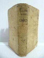 Importante piena pergamena del '600_Opera completa di Claudio Claudiano