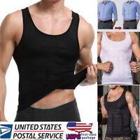 Men's Body Shaper Slimming Shirt Full Shapewear Waist Cincher Girdle Corset Vest