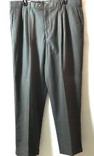 New Dockers Pleated Cuffed Dress Pants  Size 40 x 32 Plaid Relaxed Fit