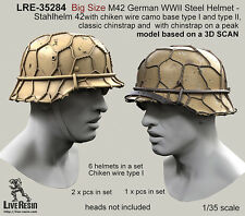 Live Resin 1/35 German Steel Helmet M42 - Stahlhelm 42 (Big Size)