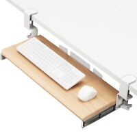 VIVO Extra Sturdy Clamp-on Computer Keyboard and Mouse Under Desk Slider Tray