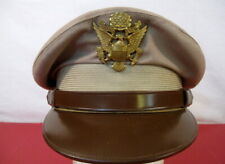 """WWII US Army Air Force AAF Officer's """"Crusher"""" Cap or Hat Size 7 - Original NICE"""