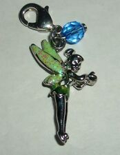 DISNEY PETER PAN TINKERBELL BLUE STONE LOBSTER CLASP BRACELET CHARM