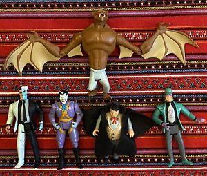 Lot Of 5 Batman: The Animated Series Action Figures Joker Man-Bat, Two-Face+