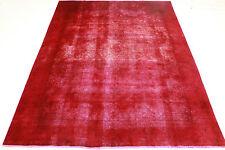 Vintage Orient Tapis moderne rouge overdyed Used Look 370x270 noué à la main