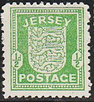 Stamp Germany Jersey Mi 01 Sc 01 WWII 1941 War Germany Occupation England MH