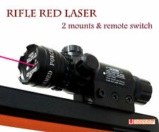 Tactical Red Laser Sight Scope Rifle Gun 2 Switch Rail Mounts,Battery & Charger