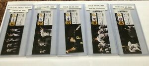 11 Gerrit Cole Rookie Tickets ML Debut First Victory First SO Plus Wins 2 4 6 +