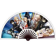 "13"" Anime Sword Art Online Sao Kirito Asuna Cloth bamboo Folding Fan Knirps"