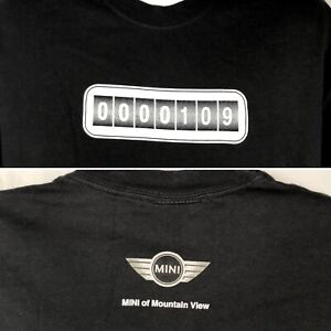 Mini Cooper Mt View 0000109 Speedometer T-Shirt XL Mens Silicon Valley Nor Calif