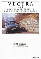 Opel Vectra 4x4 Prospekt 8/91 1991 Autoprospekt Auto Pkw Deutschland brochure