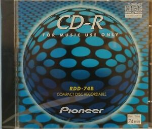 Pioneer RDD-74B Audio CD R Recordable Compact Disc 74min PDR Series NEW & SEALED