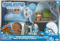 Smurfs Mushroom House Playset with Brainy Jakks