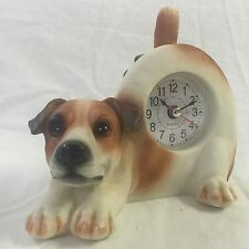 Easter Sale Critter Clock Jack Russell Terrier Wagging Tail Puppy Dog