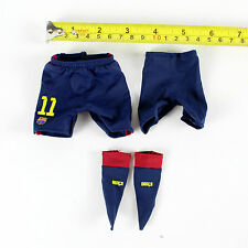 A86-39 1/6 Scale FCBarcelona Neymar Jr Home Kit Soccer Shorts