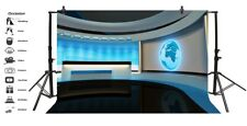 10x6.5ft Tv News Studio Room Photography Backgrounds Seamless Vinyl Backdrops
