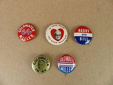 Vintage Original Barry Goldwater for President Political Pinbacks