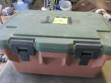 "Used Cambro Military Food Container Cooler  26x18x13"" OD Nice SC a"