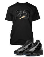 T Shirt to Match Air Jordan 13 Cap and Gown Shoe Tee Pro Club Big and Tall Small