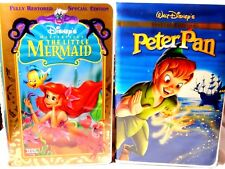 Walt Disney VHS Two The Little Mermaid & Peter Pan