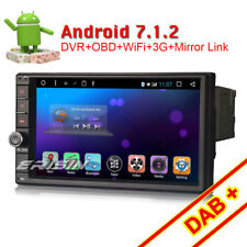 "7"" DAB+ Android 7.1 Doppel Din Autoradio GPS Bluetooth WiFi 3G OBD2 Navi RDS SD"
