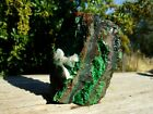 Malachite+with+Limonite+%26+Calcite+Crystal+Cluster+Display+Specimen+from+Congo