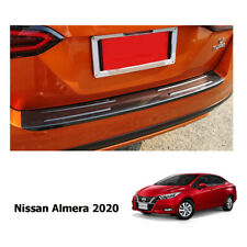 FIT NISSAN ALMERA 2019- 2020 TAIL BUMPER STEP GUARD COVER CARBON LOOK