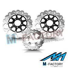 Floating Front Rear Brake Disc Kit Fit Suzuki SV 1000 S Faired 03 04 05 06 07